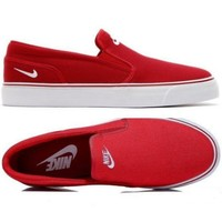 Nike White/Black Classic Canvas Leisure Shoes Red