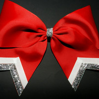 """3"""" Texas Size Cheer bow - single layer - trimed ends -  squad discounts"""