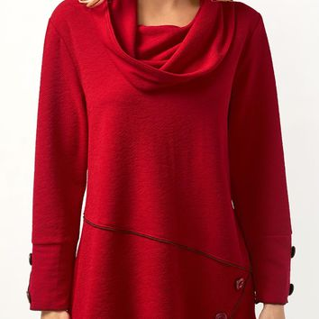Asymmetric Top with Dripped Collar