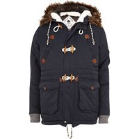 Navy Quilted Parka Jacket