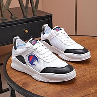 Champion Men Fashion Boots fashionable Casual leather Breathable Sneakers Running Shoes-1