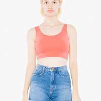 Cotton Spandex Crop Tank | American Apparel