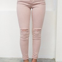 Blush Skinny Denim