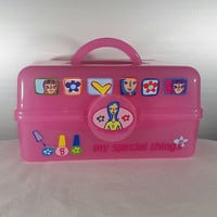Vintage Barbie Mattel Caboodle Super Rare My Special Things Toy Organizer Girls Pink Tackle Box 90s 00s 2000