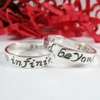 To Infinity and Beyond Hand Stamped Rings