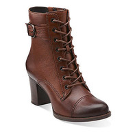 Jolissa Gypsum in Brown Leather - Womens Boots from Clarks