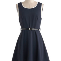 ModCloth Nautical Mid-length Sleeveless A-line Flight of Fancy Dress