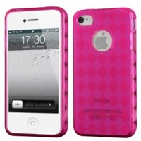 Hot Pink - Cruzer Lite Argyle TPU Soft Gel Skin Case - For Apple Iphone 4S / 4 [Cruzer Lite Retail Packaging]:Amazon:Everything Else