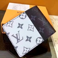 LV short fold wallet