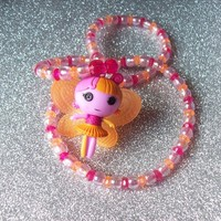 Lalaloopsy Fairy Doll Stretch Necklace with Transparent and Iridescent Beads from On Secret Wings
