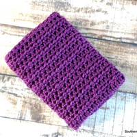 Ready To Ship Purple Chunky Baby Girl Toddler Afghan Crib Blanket Baby Shower Gift