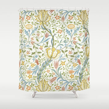 William Morris Flora Shower Curtain by Art Gallery