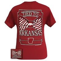Arkansas Razorbacks Tied To State Bow Girlie Bright T Shirt