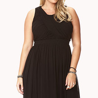 Elegant Draped Fit & Flare Dress