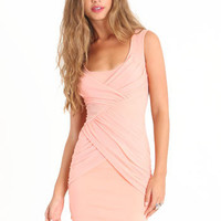 Mysteriously Sexy Dress in Peach - $42.00 : ThreadSence.com, Your Spot For Indie Clothing & Indie Urban Culture