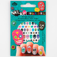 Sugar Skull Nail Stickers Multi One Size For Women 24375095701