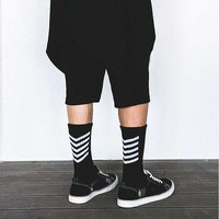 1pair mens  Long  Socks Cotton Casual Striped Crew Harajuku Comfortable Skateboard Unisex Happy Sock