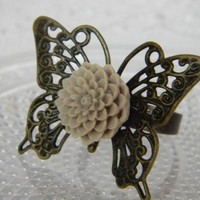 Butterfly Kisses Ring FREE SHIPPING by CreativeKates on Etsy