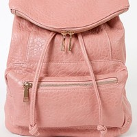 Womens Leatherette Baby's Got Backpack PINK New