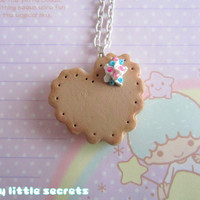 Sweet Lolita Heart Cookie Necklace