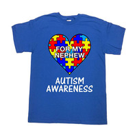 Autism Shirt Awareness T Shirt Uncle TShirt Aunt Gifts Autistic Support TShirt Autism Society Autism Month Aspergers Mens Ladies Tee -SA1039