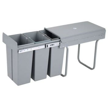 Cabine Draw Type Sorted Waste Bin 10Lx3 Multifunction