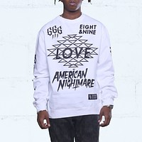 Hate Jersey L/S Tee White