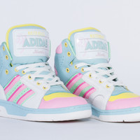 Adidas Originals X Jeremy Scott License Plate Miami in White Vapour at Solestruck.com