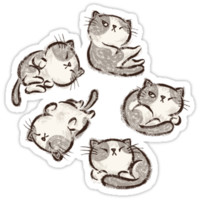 Impudent cats relax