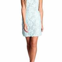 Sea Mint Lace Dress