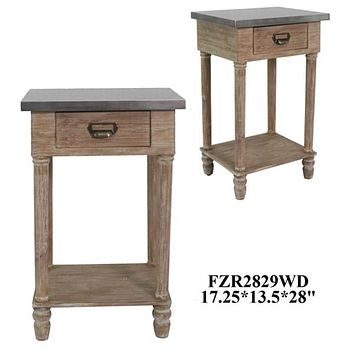 Crestview Wooden Drawer End Table