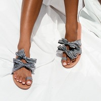 Gingham Bow Flats - Shoes by Sabo Skirt