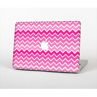 The Pink & White Ombre Chevron V2 Pattern Skin Set for the Apple MacBook Pro 15""