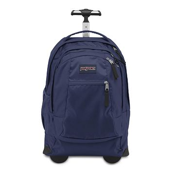 JanSport Driver 8 Rolling Backpack - Wheeled Travel Bag with 15-Inch Laptop Sleeve Navy