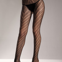 Chevron Pattern Lace Pantyhose