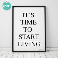 Life Quote Art Print painting Poster, Wall Pictures for Home Decoration Wall Decor,  YE026