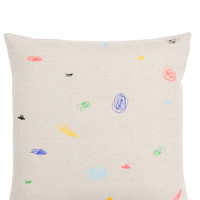 Scribbles Embroidered Pillow