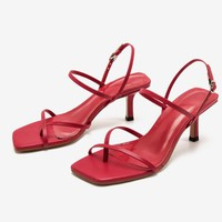 Fashionable hot selling sandals women's high heel buckle cross heel versatile women's shoes