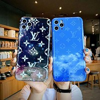 Louis Vuitton LV Starry Sky Apple 11 mobile phone case old flower 8plus all-inclusive xr/xsmax sky 11Pro set 11ProMax anti-fall