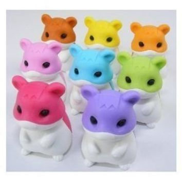 Hamster Japanese Erasers - 8 Pc