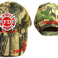 """Fire Dept Firefighter Firemen Camo Baseball Caps Hats """"First in Last out"""" (A7501F5)"""