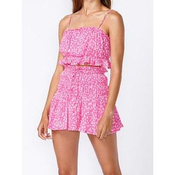 Perfect in Pink Ruffle Top