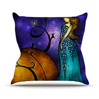 "Mandie Manzano ""Cinderella"" Throw Pillow"