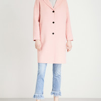 CLAUDIE PIERLOT Notched-lapel wool and cashmere-blend coat