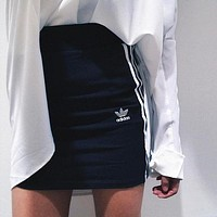 adidas Originals Black Three Stripe  Skirt