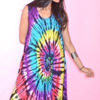 Tie Dye Swirl Tent Dress