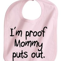 IM PROOF MOMMY PUTS OUT FUNNY BABY GIRL PINK INFANT BABY BIB NEW   KoolKidzClothing - Clothing on ArtFire