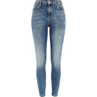 River Island Womens Light wash distressed Lana superskinny jeans