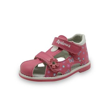 Summer Children Shoes Toddler Girls Sandals Kids Girls PU Leather Sandals Butterfly with Arch Support