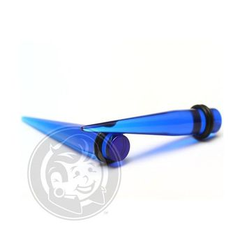 Blue Acrylic Tapers